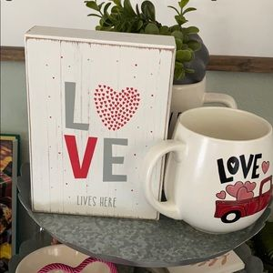 Other - Love lives here sign and Red Truck Coffee Mug